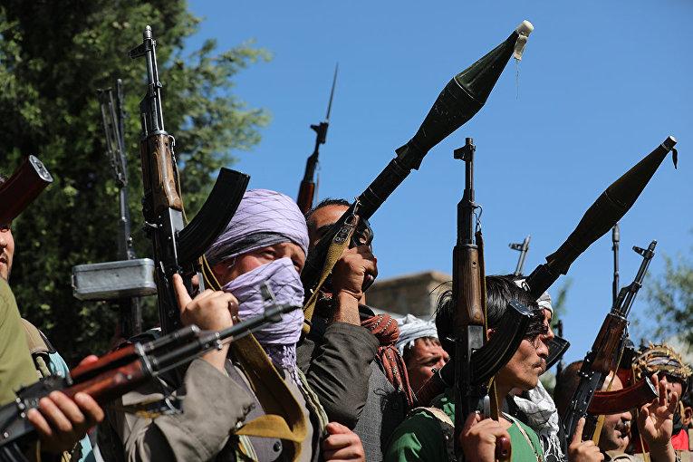 Афганские ополченцы в Кабуле