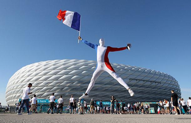 Французский болельщик в Мюнхене