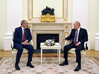 Встреча президента РФ В. Путина с исполняющим обязанности премьер-министра Армении Н. Пашиняном