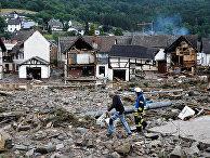 Последствия сильных ливней в Шульде, Германия
