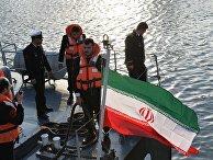 Прибытие отряда кораблей Военно-морских сил Ирана в порт Махачкалы