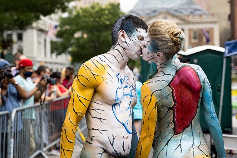 День боди-арта в Нью-Йорке
