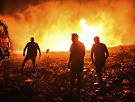 Лесные пожары в деревне Кирли близ города Манавгат, провинция Анталья
