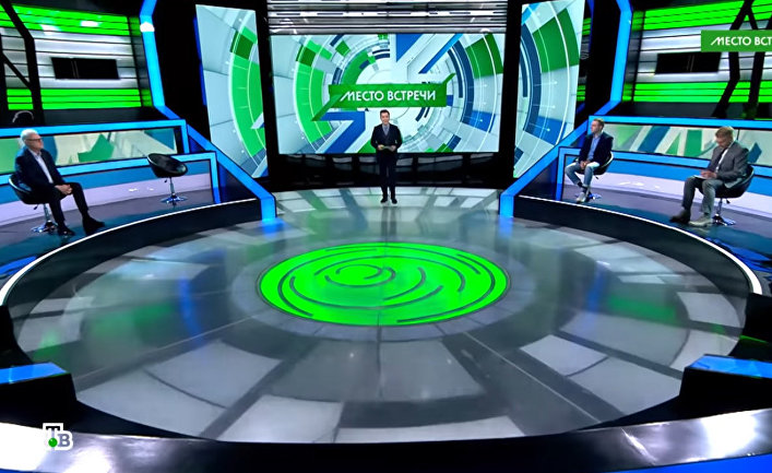 "Кадр из ток-шоу ""Место встречи"""