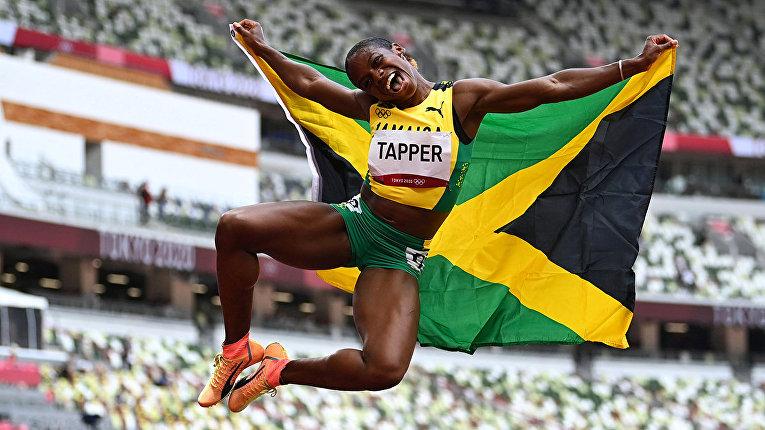 Меган Таппер из Ямайки, завоевавшая бронзовую медаль