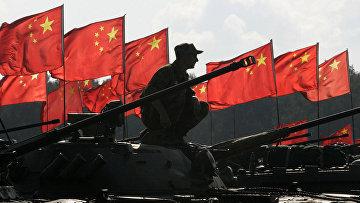 Совместные российско-китайские военные учения на полигоне Чебаркуль, Россия