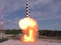 Испытание новой баллистической ракеты «Сармат»