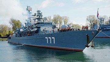 """Прибытие сторожевого корабля """"Ярослав Мудрый"""" в Балтийск"""