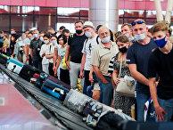 Российские туристы в аэропорту Шарм-эль-Шейха, Египет
