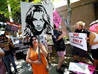Акция в поддержку Бритни Спирс в Лос-Анджелесе