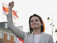 Белорусский политик Светлана Тихановская в Варшаве, Польша