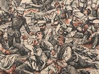 Русско-японская война. Перевозка раненых русских. 1904 год