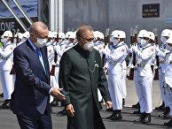 Президент Турции Реджеп Тайип Эрдоган и президент Пакистана Ариф Альви
