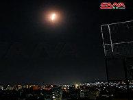 Ракета в небе над Дамаском, Сирия