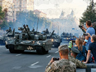Репетиция военного парада в Киеве, Украина