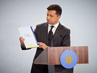 Президент Украины Владимир Зеленский на саммите «Крымская платформа» в Киеве