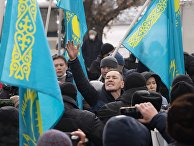 Митинг в День независимости Казахстана в Алма-Ате