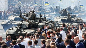 Военный парад в честь Дня Независимости в Киеве, Украина
