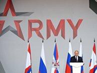 """Президент РФ В. Путин на открытии форума """"Армия-2021"""""""