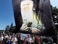 Верующие выступают против визита Вселенского Патриарха Варфоломея I в Киеве