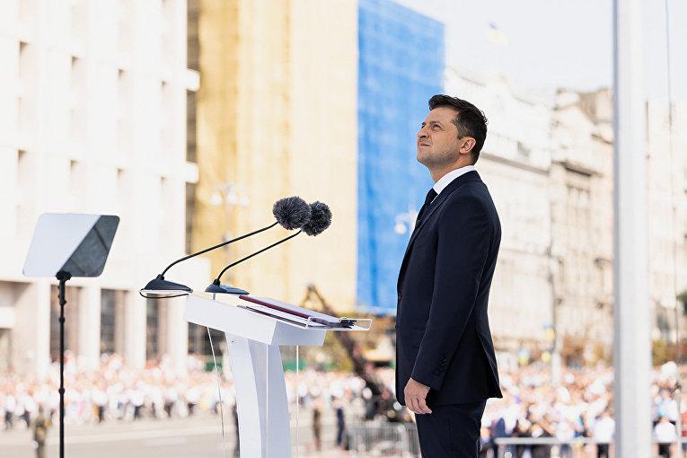 Президент Украины Владимир Зеленский на параде
