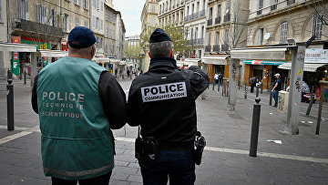 Полиция в Марселе, Франция