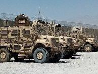Военная техника на территории авиабазы Баграм