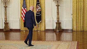 Президент США Джо Байден выступает в Белом доме в Вашингтоне