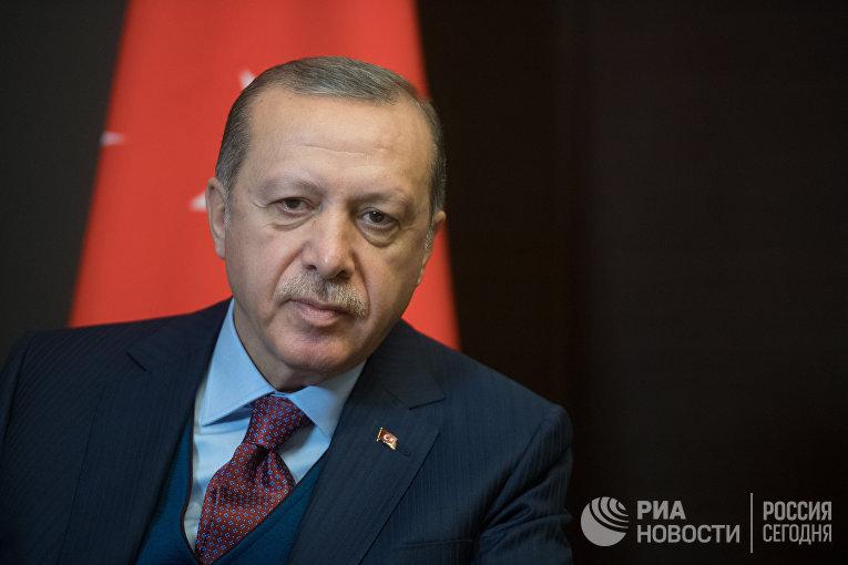 Президент Турции Реджеп Тайип Эрдоган во время встречи с президенто РФ Владимиром Путиным. 13 ноября 2017