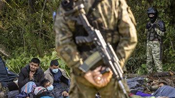 Польский и белорусский пограничники