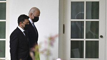 Президент Украины Владимир Зеленский и президент США Джо Байден в Вашингтоне