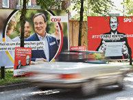 Предвыборные плакаты на пост премьер-министра в Гамбурге