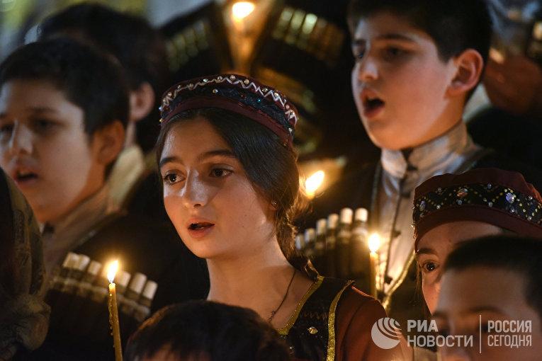 Пасхальная служба в Тбилиси