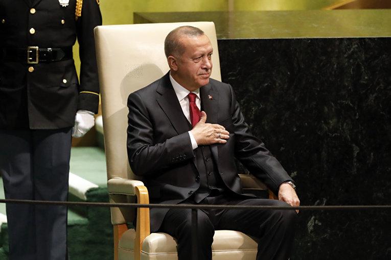 Реджеп Эрдоган на генассамблеи ООН