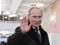 Премьер-министр РФ Владимир Путин на выборах депутатов Государственной Думы шестого созыва