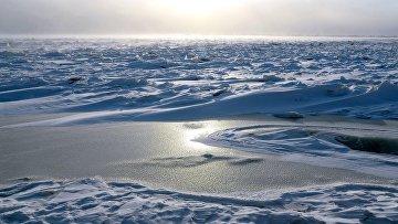 Замерзшая река Амур в Хабаровске