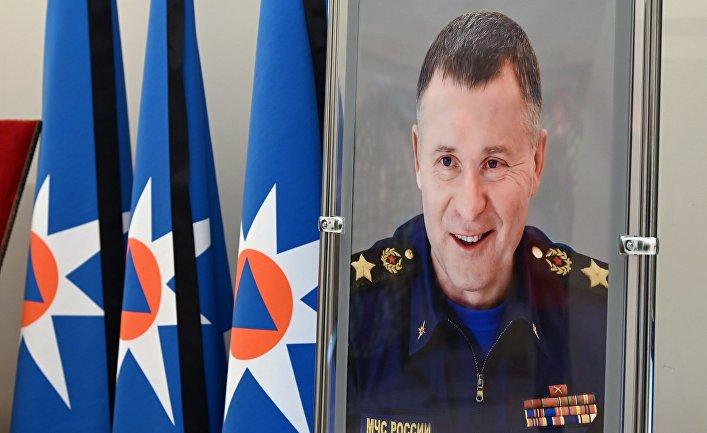 Прощание с главой МЧС Е. Зиничевым