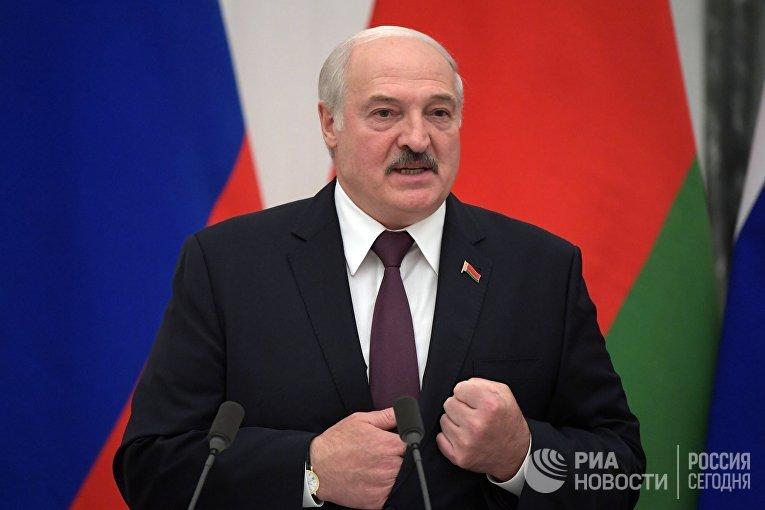 Переговоры президента РФ В. Путина с президентом Белоруссии А. Лукашенко