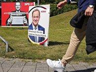 Предвыборные плакаты на пост премьер-министра в Дюссельдорфе