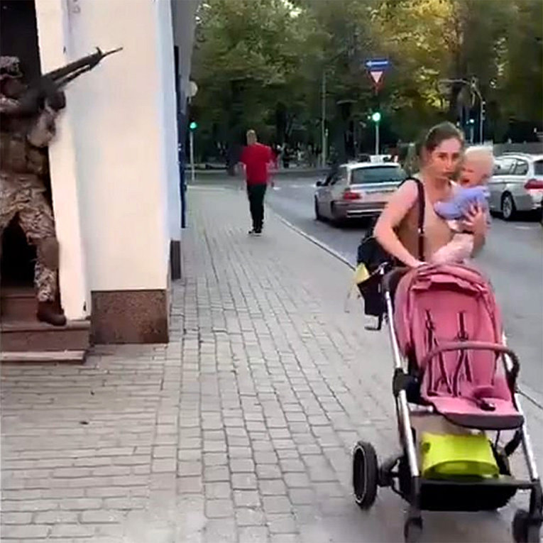 Военные учения в Риге