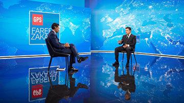 Владимир Зеленский дает интервью CNN