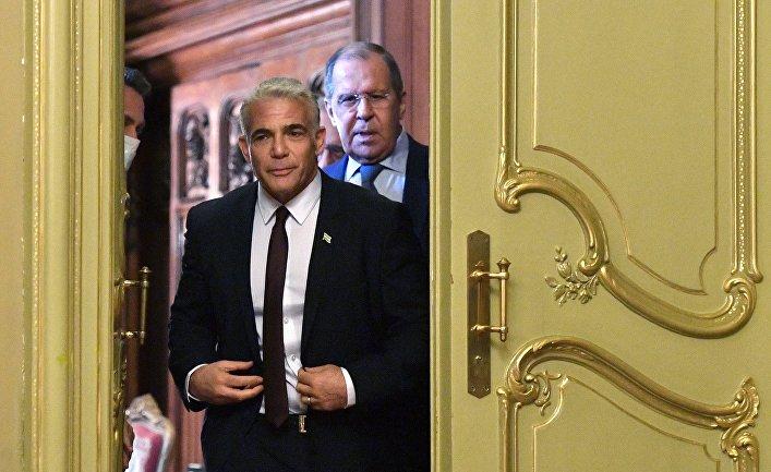 Встреча министров иностранных дел РФ и Израиля С. Лаврова и Я. Лапида