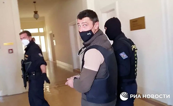 Александр Франчетти в суде в Праге