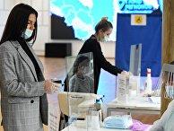 Работа участковой избирательной комиссии в Казани