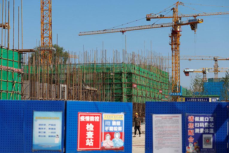 Строительная площадка одного из объектов Evergrande в Пекине