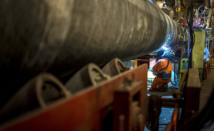 Специалисты трубоукладочной баржи «Фортуна» осуществили сварку последней трубы второй нитки газопровода «Северный поток ‑ 2».