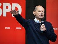 Кандидат в канцлеры ФРГ от партии SPD Олаф Шольц