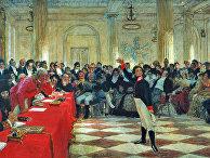 А. С. Пушкин на экзамене в Царском Селе 8 января 1815 года