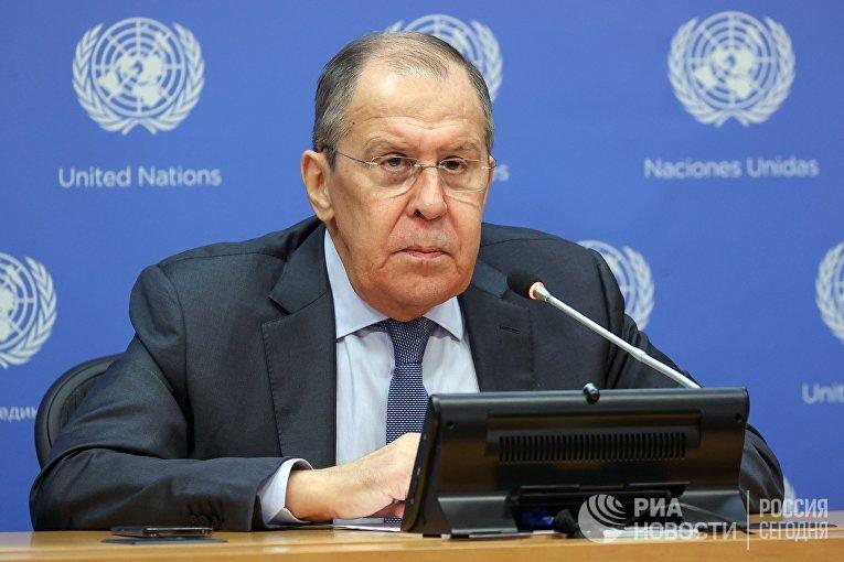 Итоговая пресс-конференция С. Лаврова в Нью-Йорке