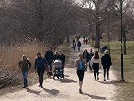 Посетителя парка в Стокгольме, Швеция
